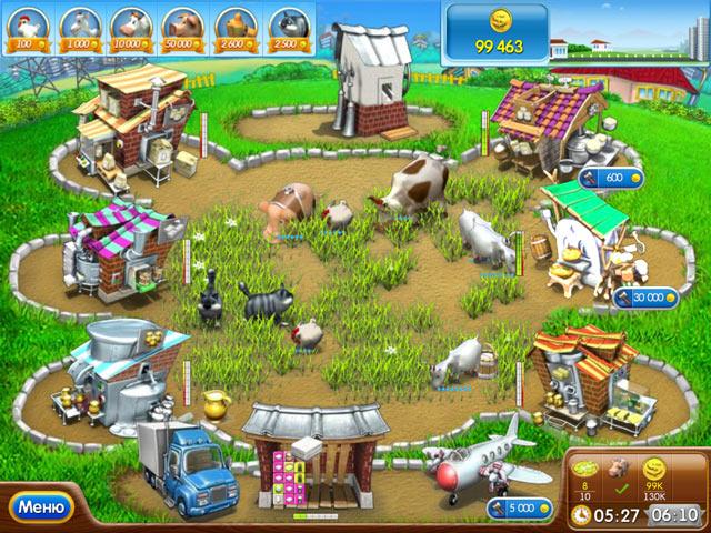 Играть ферму быков