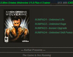 Коды и трейнер для X-Men Origins: Wolverine