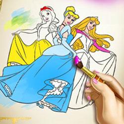 Игра Раскраски принцессы Диснея - играть онлайн бесплатно ...